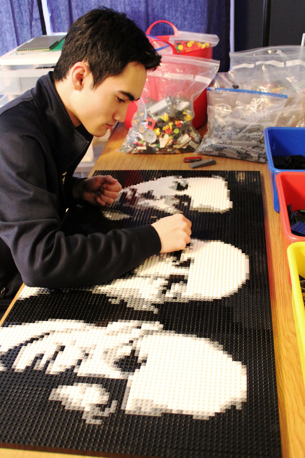 Working on LEGO Mosaic
