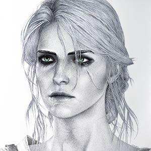 Ciri Drawing by Keith Orlando