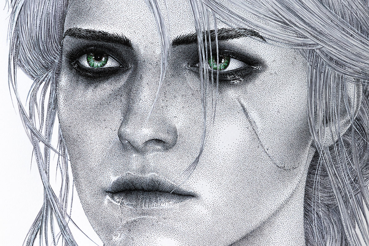 Ciri face by Keith Orlando
