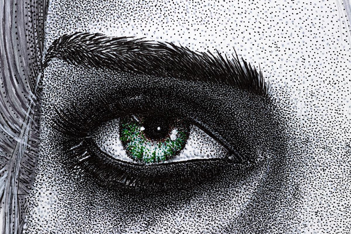 Ciri left eye by Keith Orlando