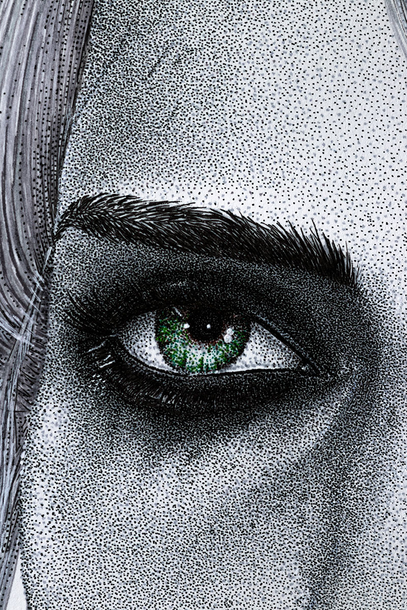Ciri left eye by Keith Orlando