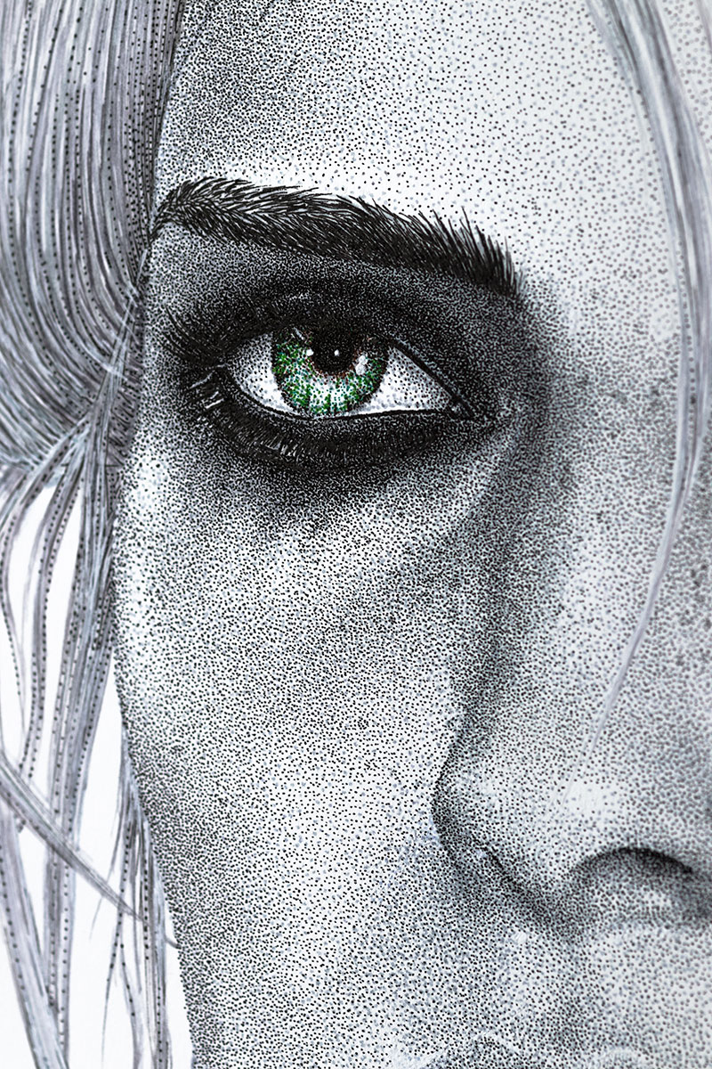 Ciri left face by Keith Orlando