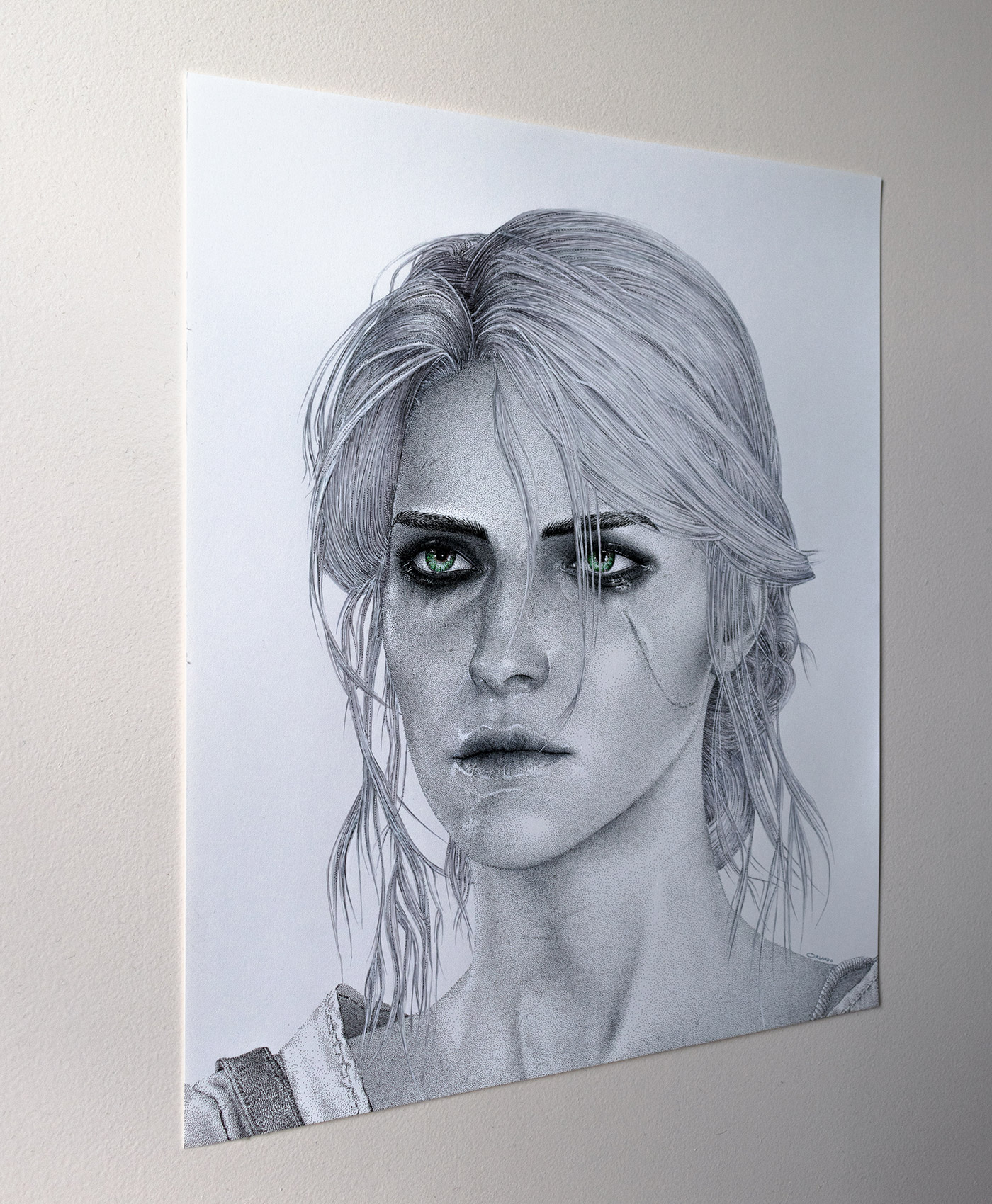 Ciri drawing left perspective by Keith Orlando