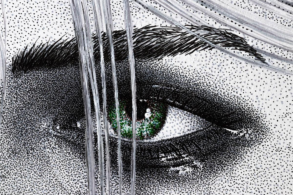 Ciri drawing right eye by Keith Orlando