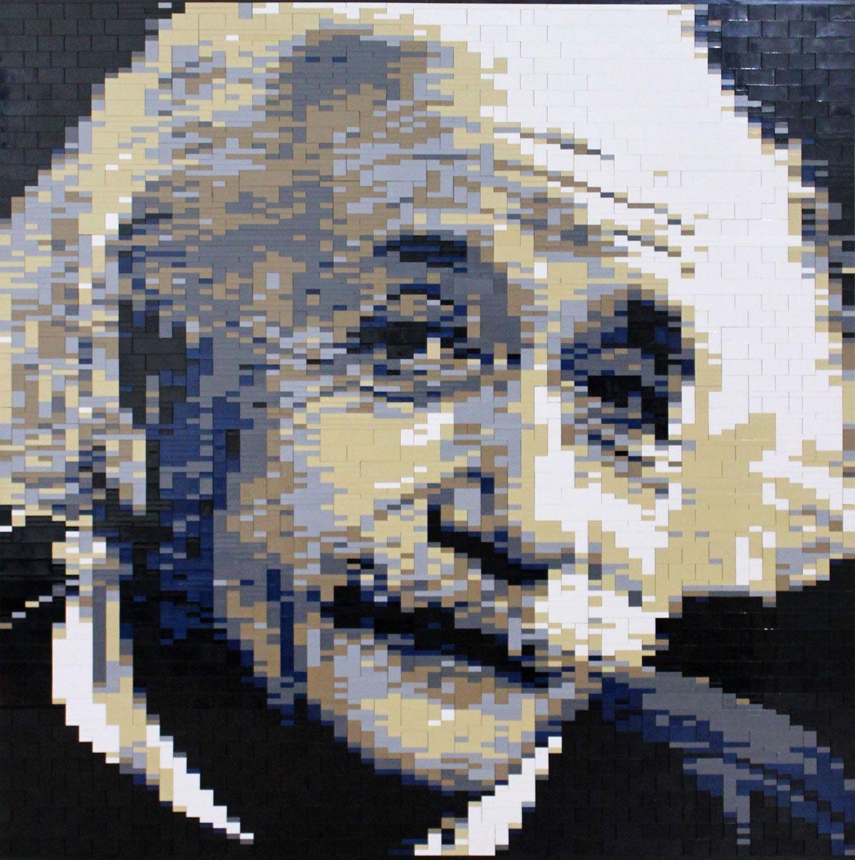 Einstein Lego Mosaic