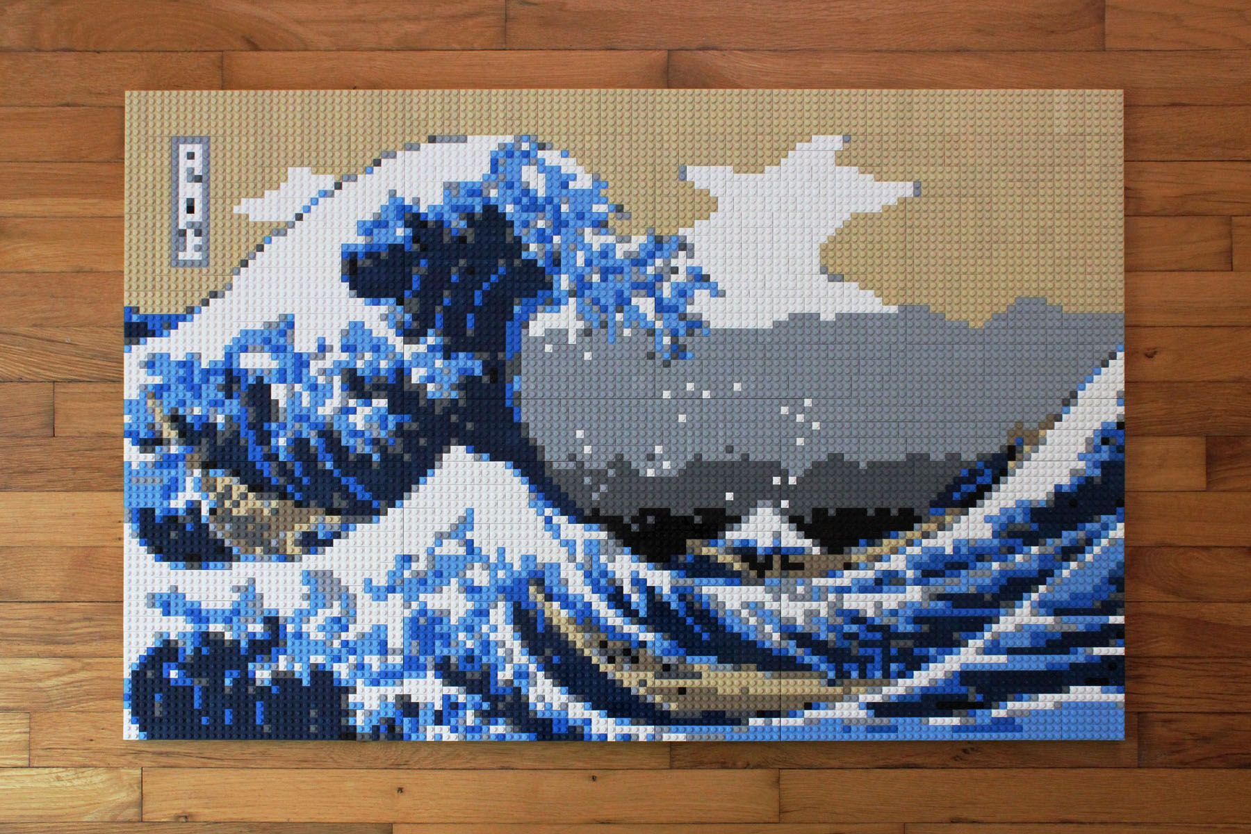 The Great Wave Off Kanagawa LEGO Mosaic by Keith Orlando