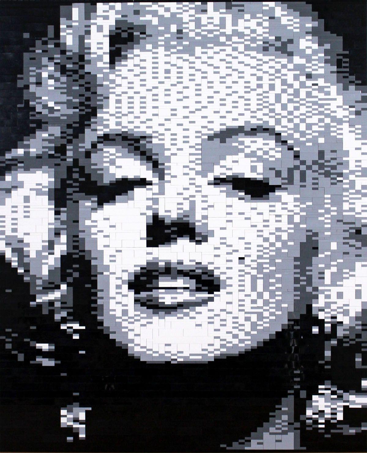 Marilyn Monroe Lego Mosaic