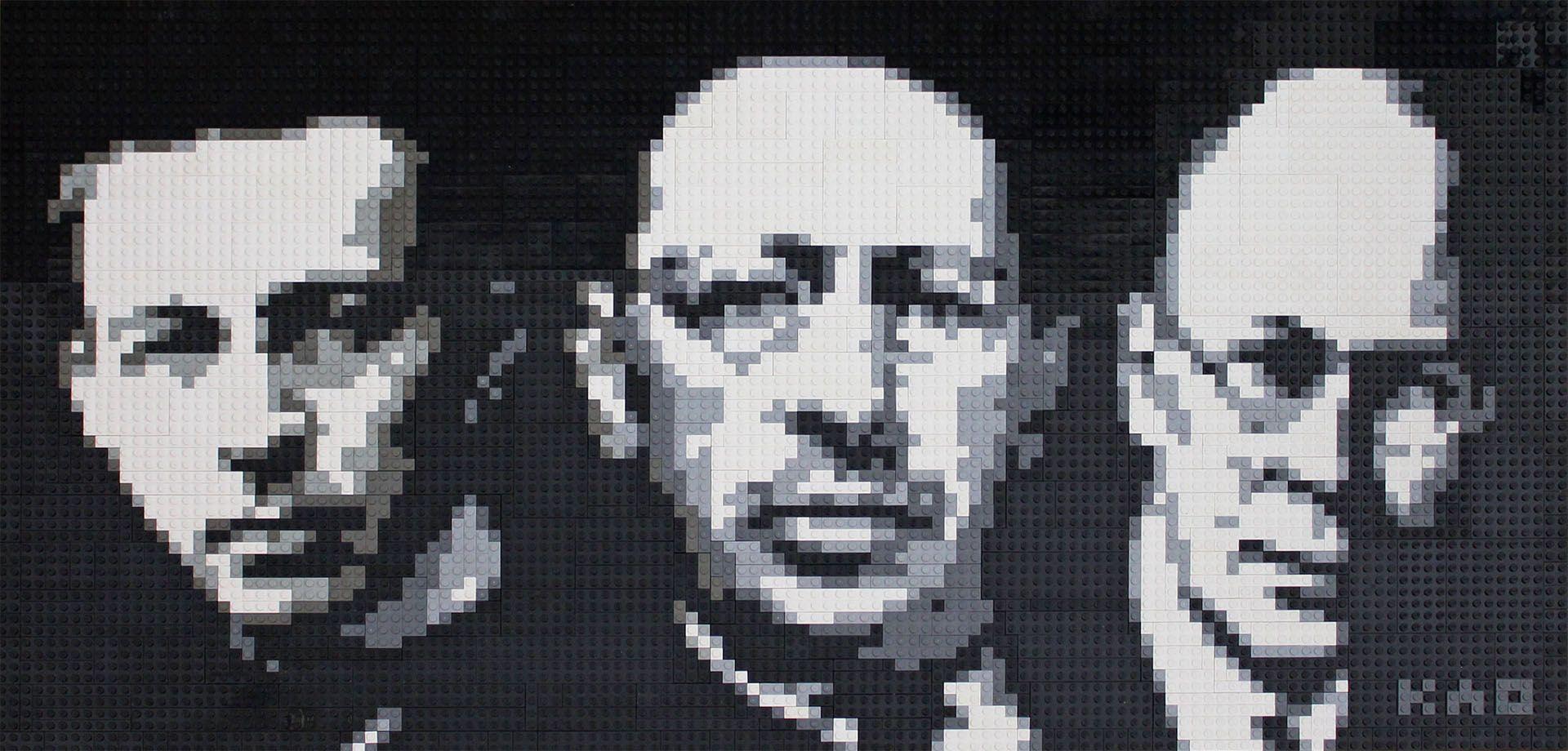 Rachmaninoff, Stravinsky, and Prokofiev Lego Mosaic