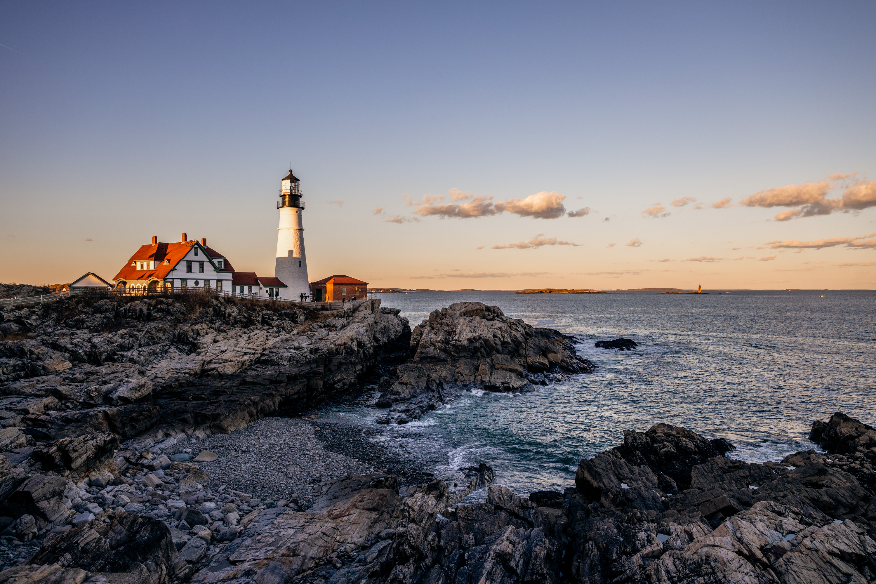 A Sliver of Sunlight Hits the Portland Head Light
