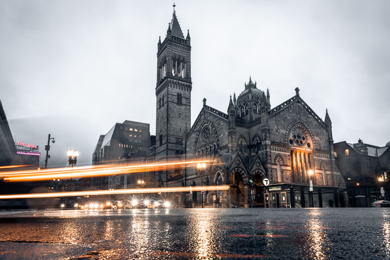Copley in the Rain: Old South Church
