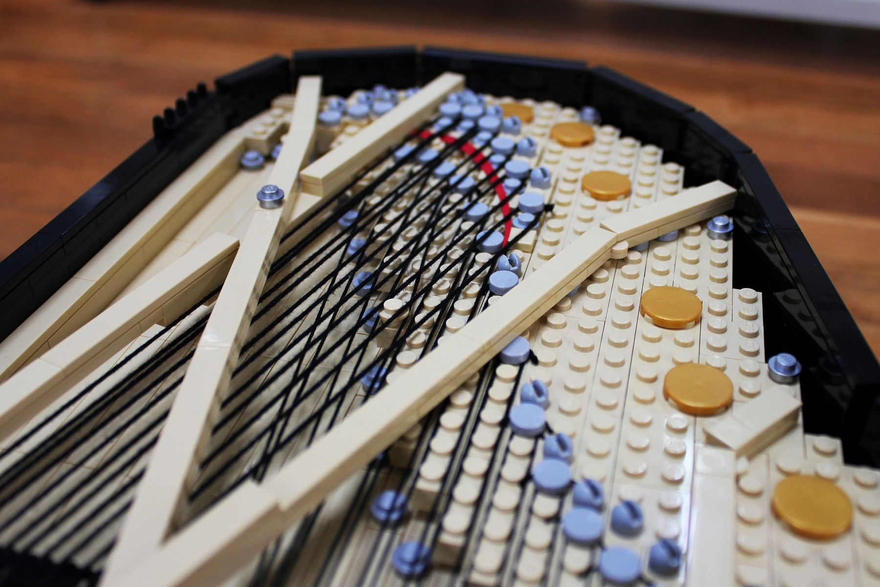 LEGO Grand Piano Strings by Keith Orlando