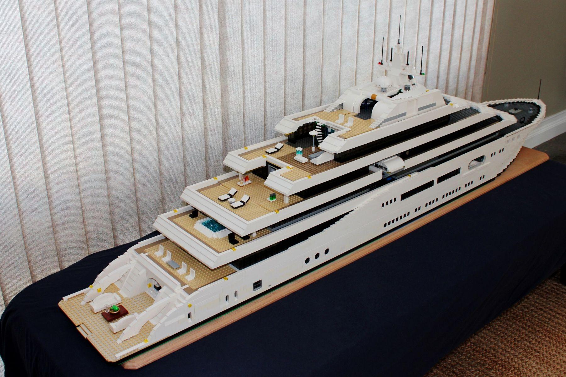 LEGO Mega-Yacht Stern by Keith Orlando